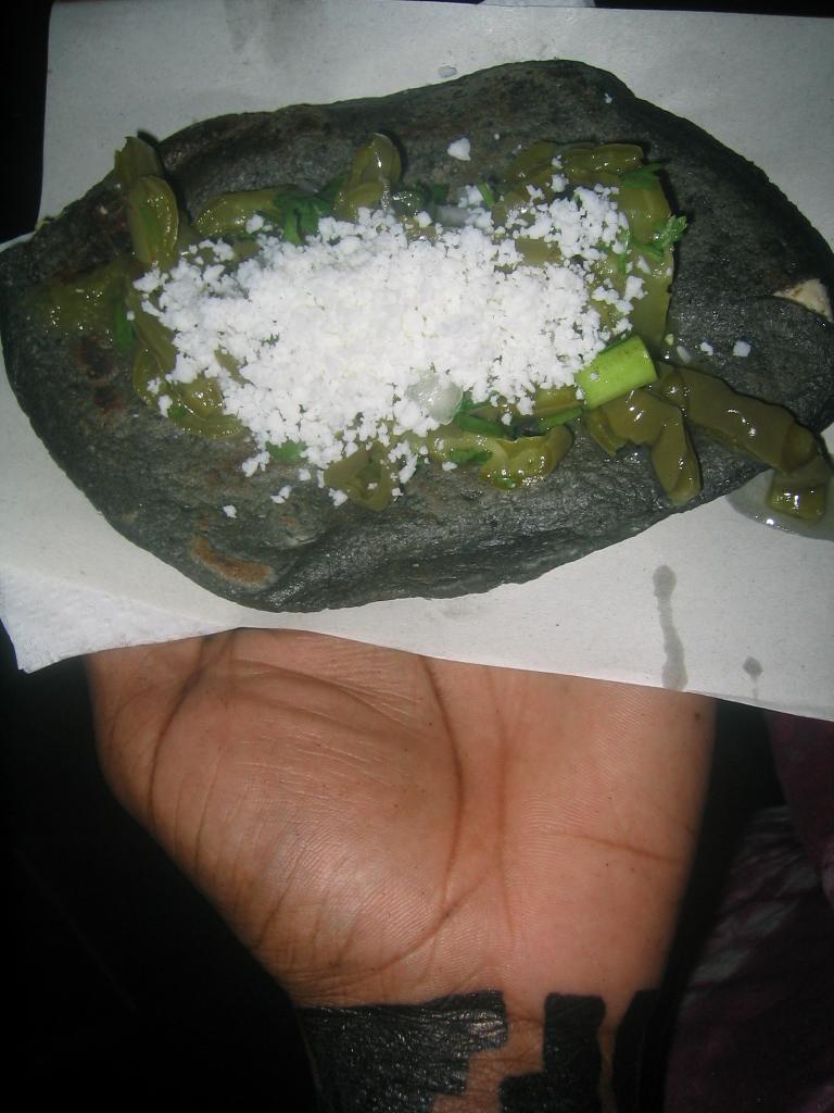 tlacoyo dinner, mexico cityzocalo
