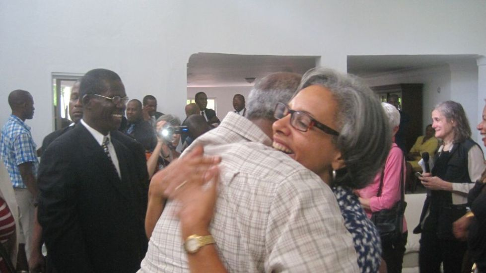 mrs mildred aristide happy to be home again