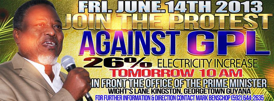 guyana power and light protest
