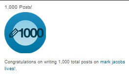 congratulations on 1000 posts mark jacobs lives