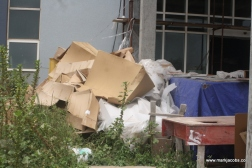 garbage everywhere outside