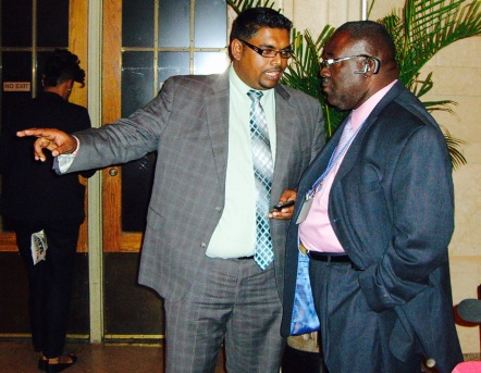 bobby vieira taking instructions from his master irfaan ali in 2012 @ caribbean week in new york