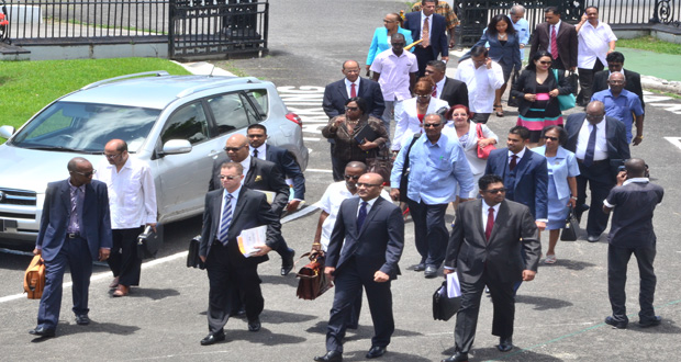 bharrat jagdeo and ppp criminals enter  parliament to begin collecting pay raise