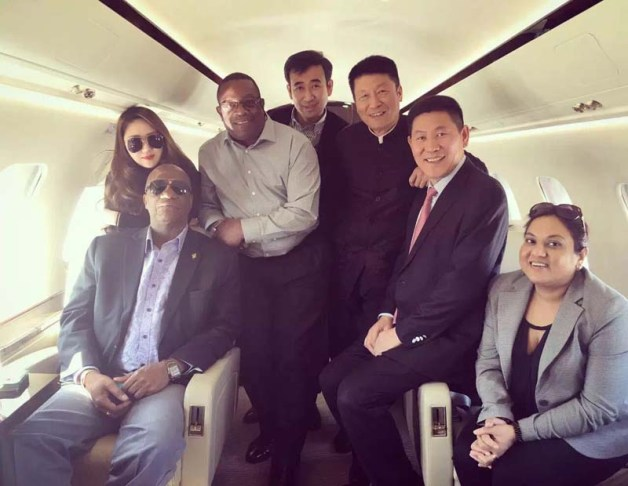 joe harmon, larry london & baishanlin officials in china last week