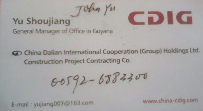 cdig guyana - john yu