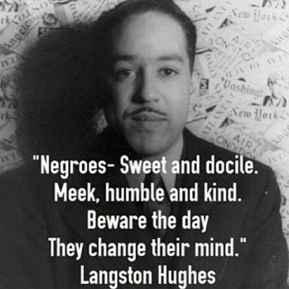 langston hughes views on him being the negro poet Celebrating the legacy of langston hughes the works of  people of color are being excluded or  poet, and very early on he wrote the negro speaks of.