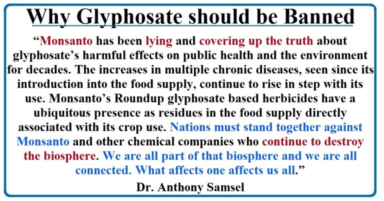 Why Glyphosate should be Banned
