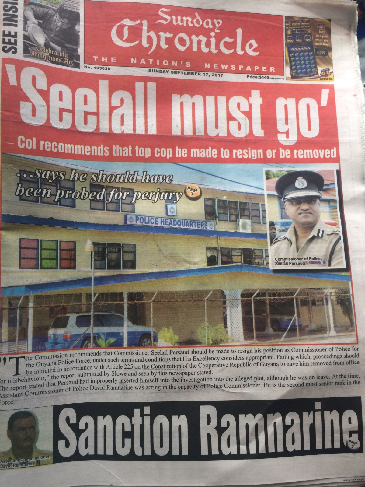the purge of the guyana police force begins any second now