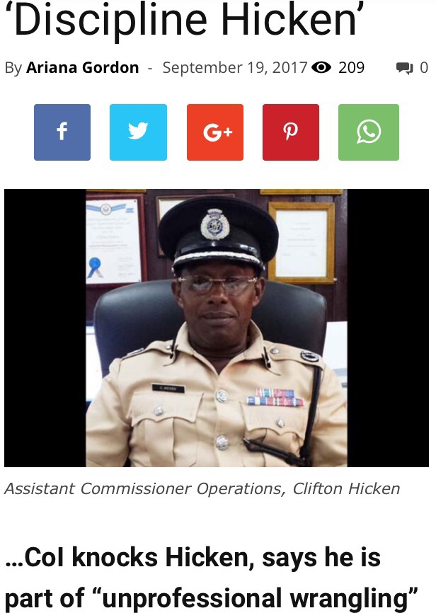 commission of inquiry recommends discipline for Clifton Hicken